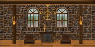 Pièce de cheminée illustration stock