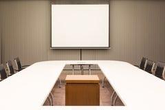 Pièce de conférence d'affaires dans le bureau Image libre de droits