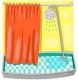 Pièce de douche illustration libre de droits