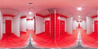 Pièce de douche avec des carlingues de douche Image libre de droits