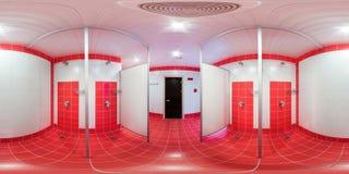 Pièce de douche avec des carlingues de douche Photographie stock libre de droits