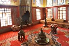 Pièce de harem dans le palais de Khan, Crimée Image libre de droits