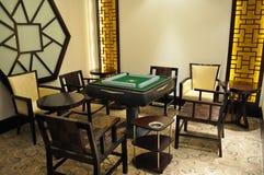 Pièce de jeu de Mahjong Photos stock