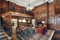Intérieur de luxe de maison couloir et pièce de bureau image stock