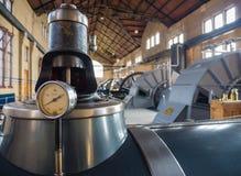 Pièce de machine de station de pompage historique de vapeur Photographie stock libre de droits