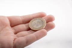 Pièce de monnaie à disposition Image stock