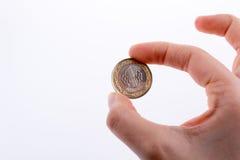 Pièce de monnaie à disposition Images libres de droits