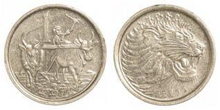 1 pièce de monnaie éthiopienne de santim Images libres de droits