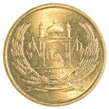 Pièce de monnaie 5 afghani afghane Images stock