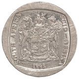 Pièce de monnaie africaine de couche-points Images libres de droits