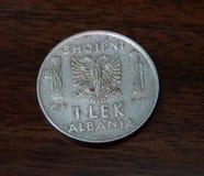 Pièce de monnaie albanaise à partir de 1939 Image stock