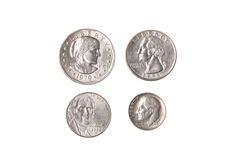 Pièce de monnaie américaine de cent du dollar Photos stock
