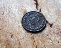 Pièce de monnaie ancienne de la Russie, vieille, 1979 5 kopeks Photo libre de droits