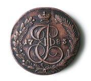 Pièce de monnaie antique Image libre de droits