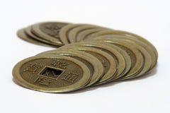 Pièce de monnaie antique chinoise Images libres de droits