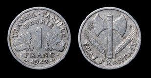 Pièce de monnaie antique de 1942 Images libres de droits