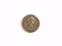 Pièce de monnaie antique romaine Image libre de droits
