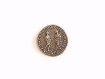 Pièce de monnaie antique romaine photographie stock libre de droits
