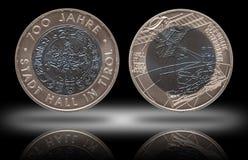 Pièce de monnaie argentée 25 de niob de l'Autriche vingt-cinq euros monnayés 2003 photos libres de droits