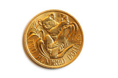 Pièce de monnaie australienne de l'or $200 Photo stock