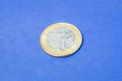 Pièce de monnaie brésilienne ` commémoratif du ` un de vrai - Vinicius la mascotte - ` 2016 de Rio de ` de jeux de Jeux Olympique Images libres de droits