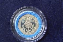 Pièce de monnaie britannique Image libre de droits