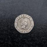 Pièce de monnaie britannique Images stock