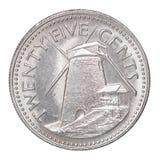 Pièce de monnaie de cent des Barbade Image libre de droits