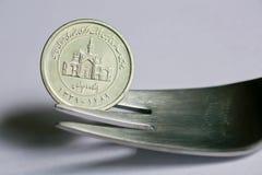 Pièce de monnaie commémorative de cuivre-nickel de l'Iran Images libres de droits