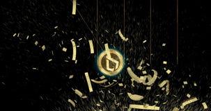 Pièce de monnaie de cryptocurrency de Lisk LSK démolir des devises principales du monde banque de vidéos