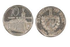 Pièce de monnaie cubaine Photo stock