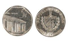 Pièce de monnaie cubaine Photos stock