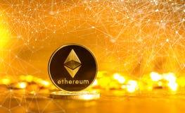 Pièce de monnaie d'éther d'Ethereum image libre de droits