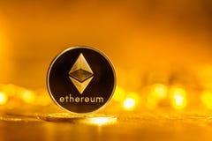 Pièce de monnaie d'éther d'Ethereum images stock