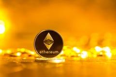 Pièce de monnaie d'éther d'Ethereum photos stock