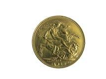 Pièce de monnaie d'or Photos libres de droits