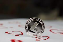 Pièce de monnaie d'amour de Litecoin Photo stock