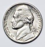 Pièce de monnaie d'argent Photos libres de droits