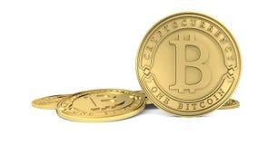 Pièce de monnaie d'or de Bitcoin Image libre de droits