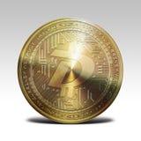 Pièce de monnaie d'or de digibyte d'isolement sur le rendu blanc du fond 3d Image stock