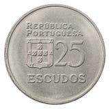 Pièce de monnaie d'escudo portugais Images stock