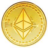 Pièce de monnaie d'Ethereum d'isolement Image libre de droits