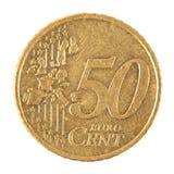 Pièce de monnaie d'euro cent Photographie stock libre de droits