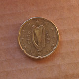 Pièce de monnaie d'euro cent de l'Irlandais 20 Image libre de droits