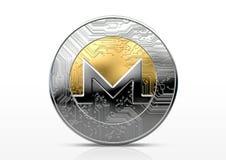Pièce de monnaie d'examen médical de Cryptocurrency Images stock