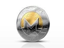 Pièce de monnaie d'examen médical de Cryptocurrency Photographie stock libre de droits