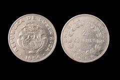 Pièce de monnaie d'isolement de Costa Rica Images libres de droits