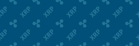 Pièce de monnaie d'ondulation du ryptocurrency XRP de ¡ de Ð - modèle sans couture strict illustration libre de droits