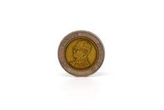 Pièce de monnaie de baht de la Thaïlande d'isolement Images stock