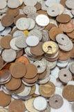 Pièce de monnaie de billets de banque de Yens japonais et de Yens japonais Photos libres de droits